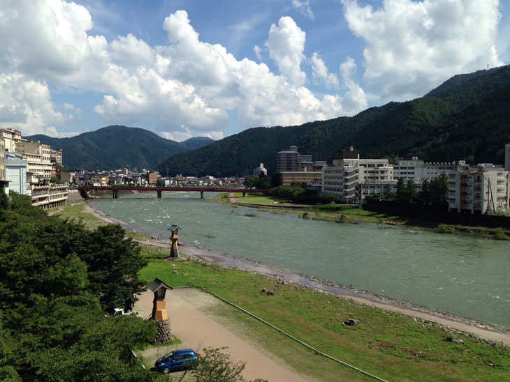 今日の飛騨川